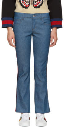 Gucci Blue Skinny Flare Jeans