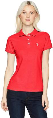 U.S. Polo Assn. Women's Short Sleeve Solid Pique Polo Shirt