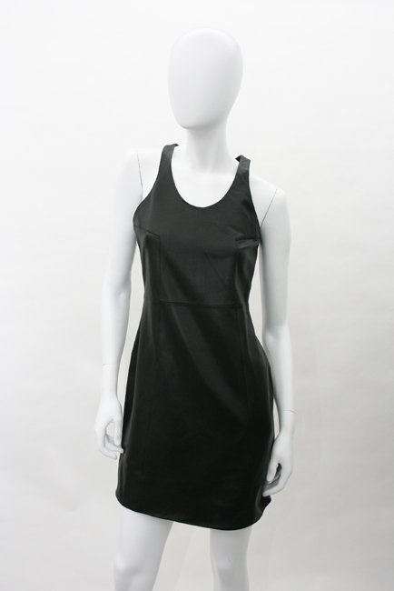 Madison Marcus Leather Dress in Black
