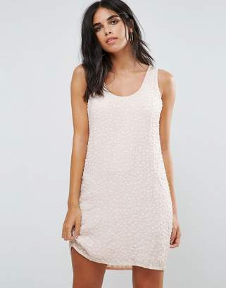 French Connection Dorothy Floral Sequined Shift Dress
