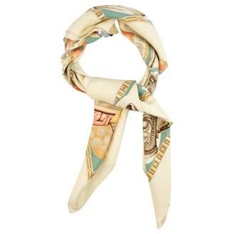 Hermes Vintage Beige Silk Silk handkerchief