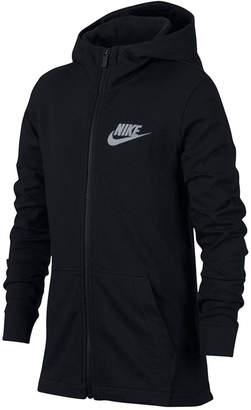 Nike Full-Zip Graphic-Print Cotton Hoodie, Big Boys