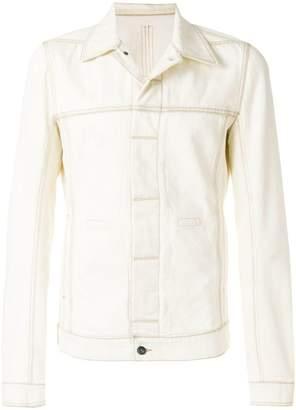 Rick Owens top stitch denim jacket