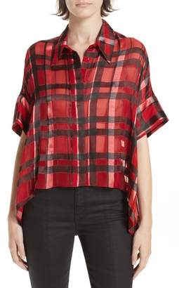 Alice + Olivia Edyth Plaid Shirt