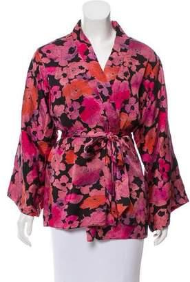 Agent Provocateur Silk Floral Print Kimono
