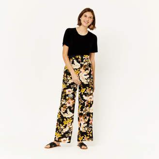 Warehouse Hibiscus Wide Leg Trouser
