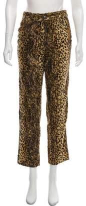 Versace Textured Animal Print Pants
