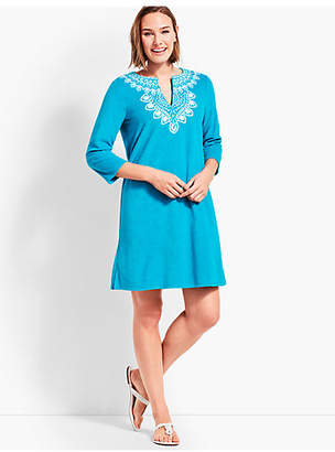 Talbots Embroidered Terry Tunic