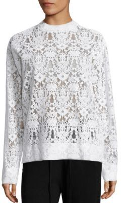 DKNY Floral Lace Pullover $498 thestylecure.com