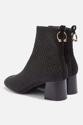 Topshop WEAVE Ring Ankle Boots