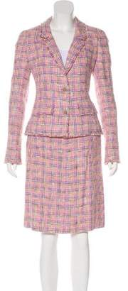 Chanel Structured Tweed Skirt Suit