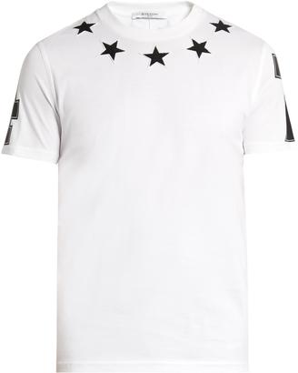 GIVENCHY Cuban-fit star-appliqué T-shirt $364 thestylecure.com