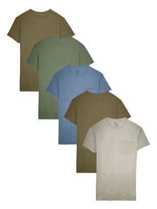 Fruit of the Loom Men's 5-Pack Pocket T-Shirt, Assorted
