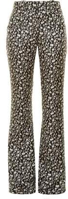 Altuzarra Serge floral-jacquard flared trousers