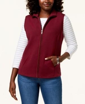 Karen Scott Petite Quilted Zip-Front Vest, Created for Macy's