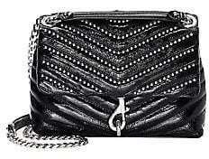 Rebecca Minkoff Women's Edie Beaded Chain Leather Crossbody Bag