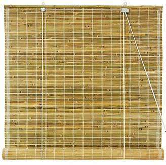 Oriental Furniture Burnt Bamboo Roll Up Blinds - Natural - (60 in. x 72 in.)(B)