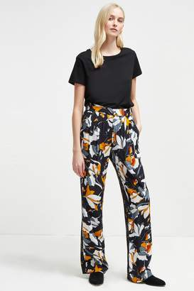French Connenction Aventine Drape Wide Leg Trousers