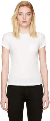 Helmut Lang White Rib T-Shirt