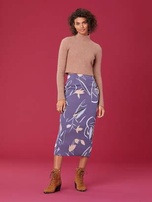 f29ca931ef54 Diane von Furstenberg Kara Silk Cady Pencil Skirt
