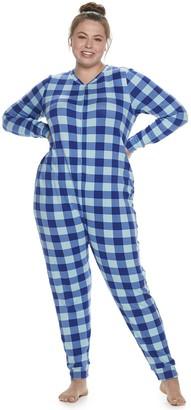 So Juniors' Plus Size SO One-Piece Pajamas