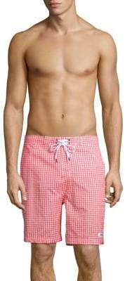 Trunks Surf + Swim Gingham Drawstring Board Shorts