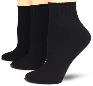 Gold Toe Women's Plus-Size 3 Pair Pack Softwear Shortie Socks
