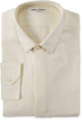 Saint Laurent Men's Brocade Dress Shirt