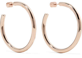 Jennifer Fisher Baby Lilly Rose Gold-plated Hoop Earrings