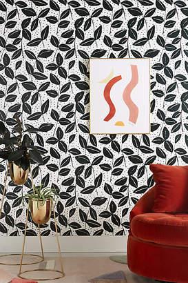 Anthropologie Black & White Garden Wallpaper