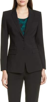 BOSS Juicylara Tropical Stretch Wool Suit Jacket