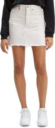 Levi's Deconstructed Cutoff Miniskirt