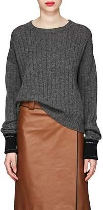 Prada Women's Logo-Detail Rib-Knit Cashmere Sweater