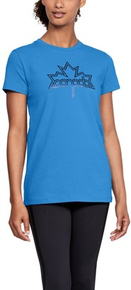 Under Armour Women's UA Team Canada Performance Leaf Graphic T-Shirt