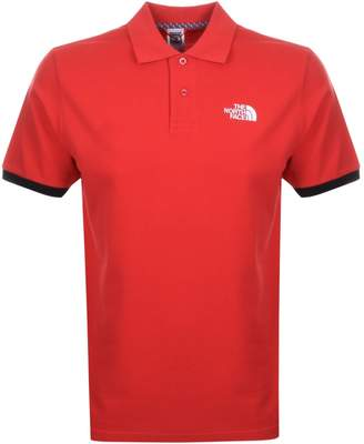 The North Face Logo Polo T Shirt Red