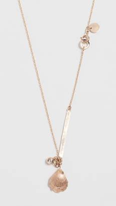 blanca monros gomez 14K Gold Seashell Diamond ID Necklace