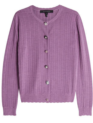 Marc Jacobs Cardigan in Wool-Silk with Embellished Buttons