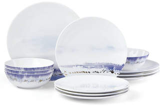 Lenox Watercolor Horizons Microwave Safe Blue 12-Pc. Dinnerware Set, Service for 4