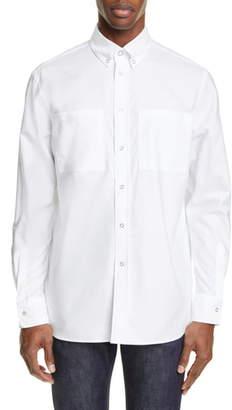 Burberry Logo Print Slim Fit Oxford Shirt