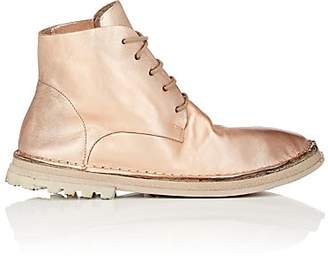 Marsèll WOMEN'S DISTRESSED METALLIC LEATHER ANKLE BOOTS
