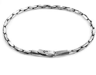 ANCHOR & CREW - Silver Mizzen Single Sail Chain Bracelet