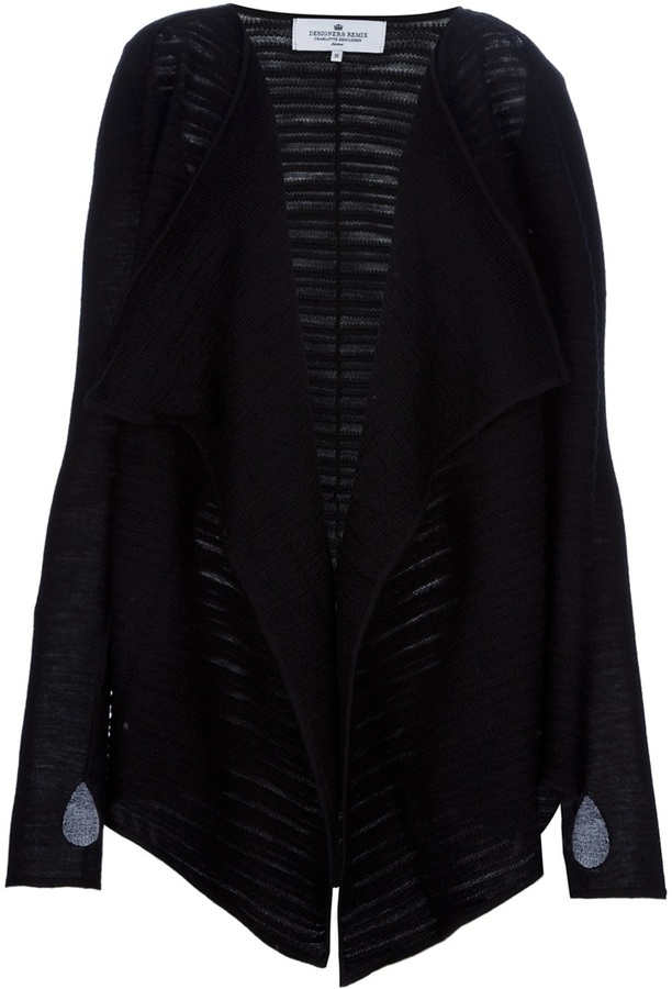 Designers Remix slit waterfall cardigan