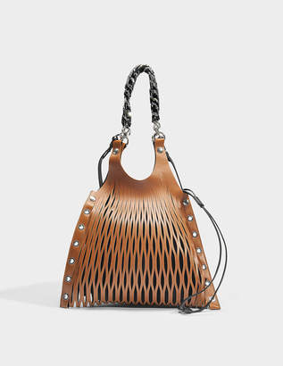 Sonia Rykiel Le Baltard Medium Bag in Brown Leather