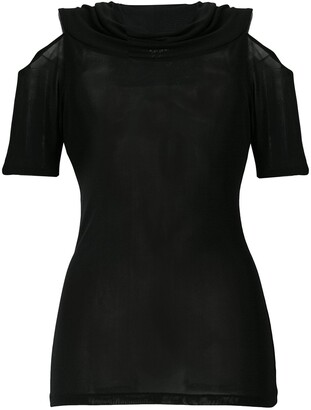 Yohji Yamamoto Pre-Owned cut out shoulder blouse