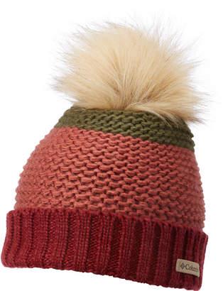 Columbia Holly Peak Faux-Fur-Pom Fleece-Lining Beanie