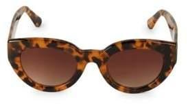 Sam Edelman 60MM Tortoiseshell Rounded Cat-Eye Sunglasses
