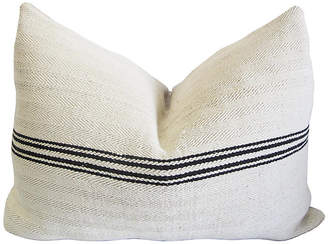 One Kings Lane Vintage French Striped Linen Pillow - AntiqueLifestyle