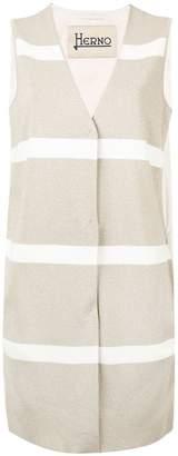 Herno striped waistcoat