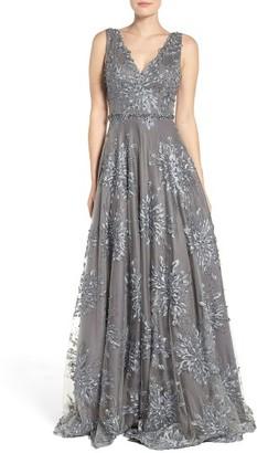 Women's Jovani Mesh Ballgown $718 thestylecure.com