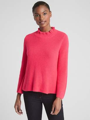 Gap Ruffle Mockneck Pullover Sweater